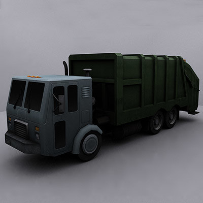3d ready garbage truck 2
