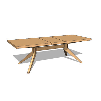 Cross Extension Dining Table