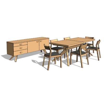 Cross Extension Dining Set