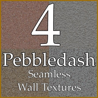 Pebbledash wall roughcast texture collection