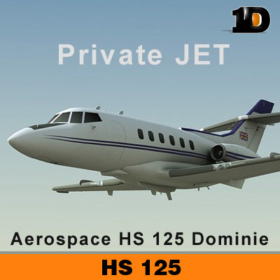 aerospace hs 125 dominie 3d 3ds