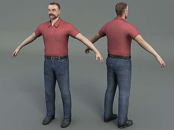 maya ready casual character - Man01... by Pinelas