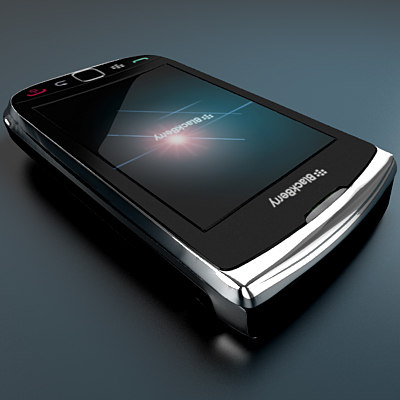 new blackberry 9800 torch 3d model - Blackberry 9800 Torch cell phone... by Leeift