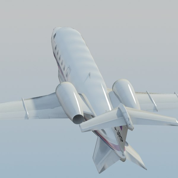 learjet60 jet learjet 60 3d model - LearJet 60 White... by ES3DStudios