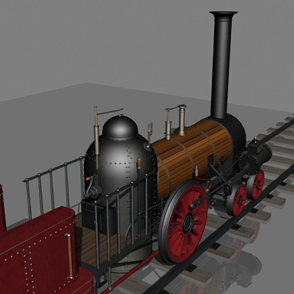 3d model norris 4-2-0 lafayette locomotive - Norris 4-2-0 (Lafayette) Engine... by mostlysquare