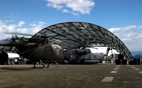 3d hangar model - Hangar... by ETMawerick