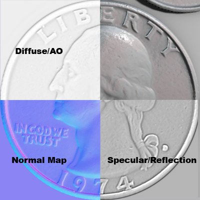 US Coins Normal Maps