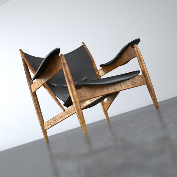 3dsmax finn armchair - Chieftain Chair... by BBB3viz