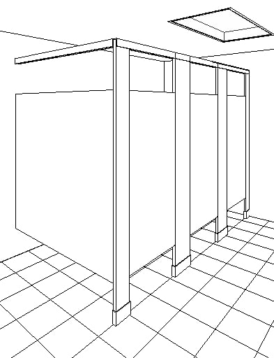 toilet partition stall bathroom bobrick ceiling mount water closet wc