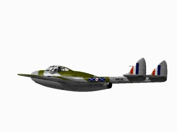 havilland vampire nf10 3ds - De Havilland Vampire NF10... by pbratt