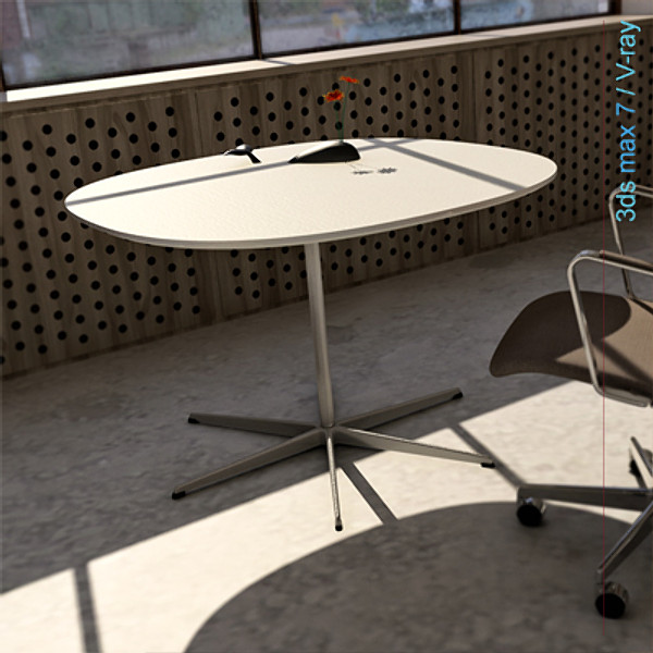 arne jacobsen tables dxf - super-circular 6 star leg... by Lajhar
