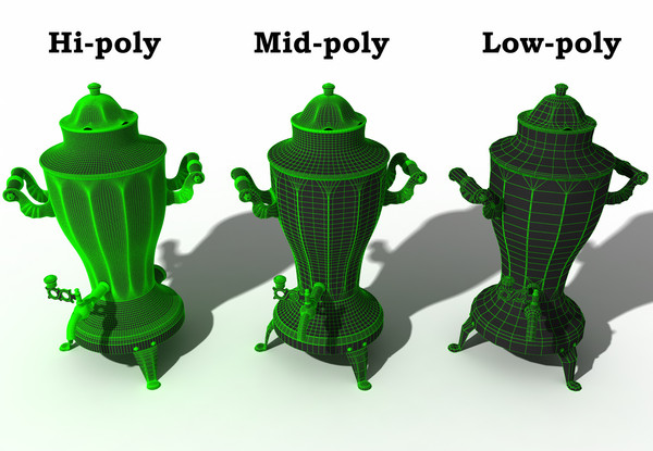 samovar polys 3d model - Samovar USSR low-mid-hi poly... by temp64GTX