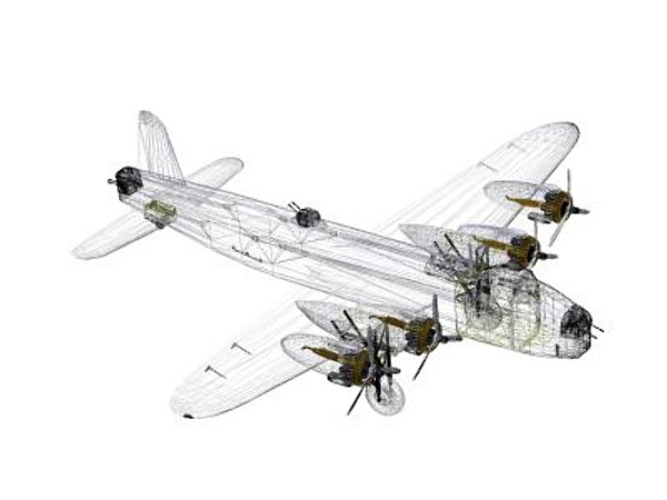 3d model short stirling mkiii - Short Stirling MKIII... by pbratt