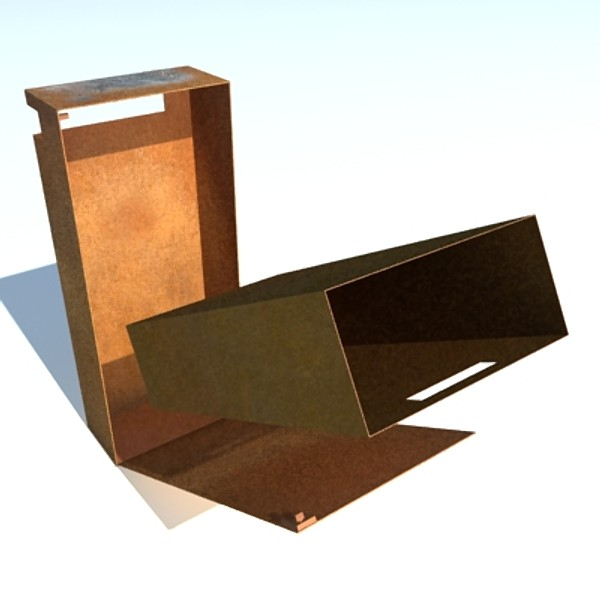 3d rusted dustbin - Rusted Dustbin... by ZERGEANT