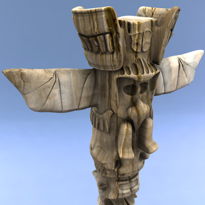 indian totem 3d model - Totem... by C4DmodelSHOP