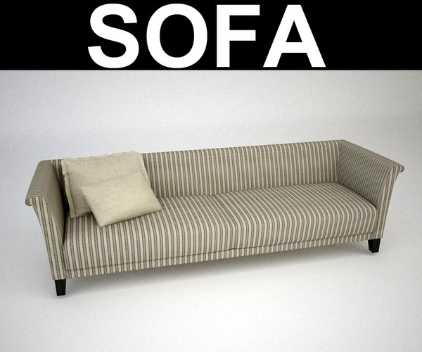 3d max contemporary sofa