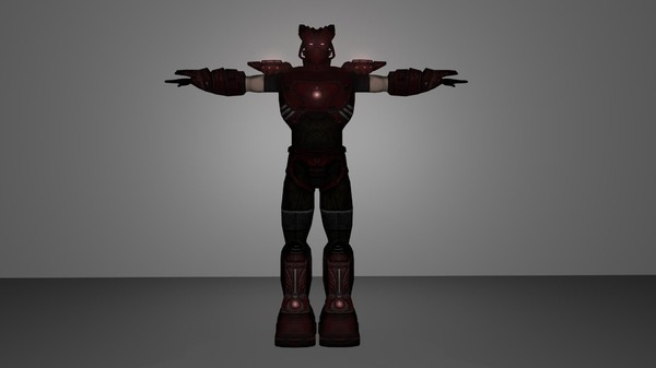 obj cyber warrior - CyberWarrior.blend... by EMB3D