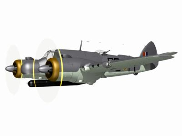 bristol beaufighter fighter tfx 3d model - Bristol Beaufighter TFX... by pbratt