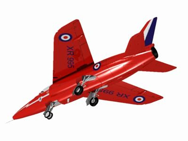 hawker siddeley gnat red arrows 3d c4d - Hawker Siddeley Gnat T1 (Red Arrow)... by pbratt