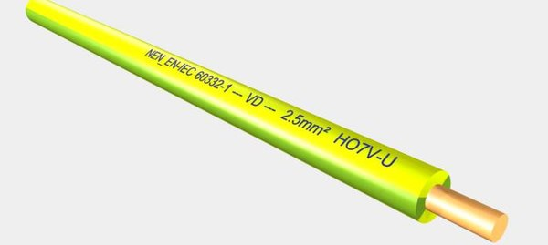 vd ho7v-u 450 750v 3d model - VD HO7V-U 450 750V 2,5 mm2 yellow green.max... by Cable Master