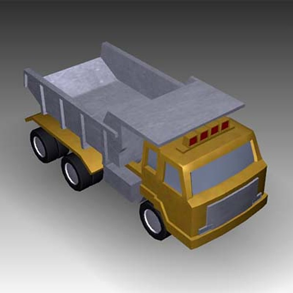 toy truck 3ds - Toy Dump Truck... by mostlysquare