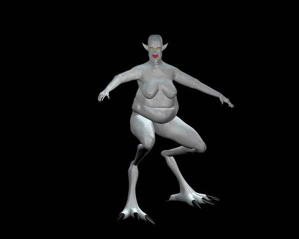 female fell demon 3d model - Fell Demon... by Emagyn