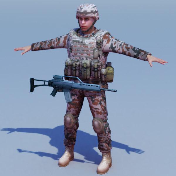 german desert infantry bundeswehr 3ds