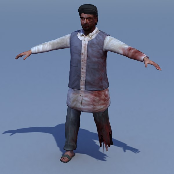 afghan civilian casualty 3d model