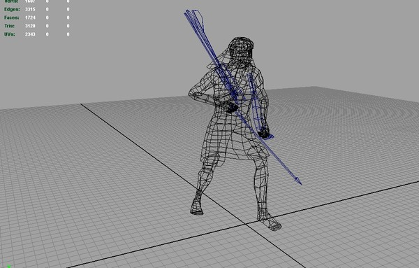 3d egyptian archer animations model - Animated Egyptian Archer... by The 3D Buddha