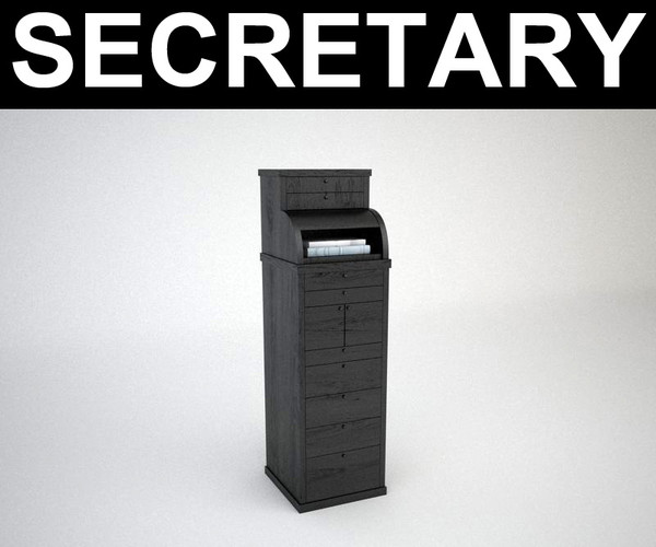 contemporary cabinet secretary 3d model