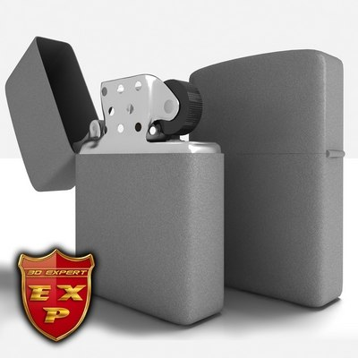 Generic grey Zippo look lighter