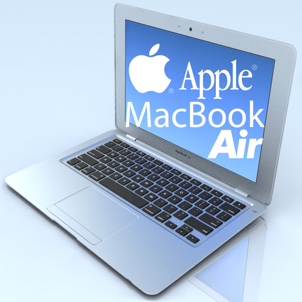 3d model notebook apple macbook air
