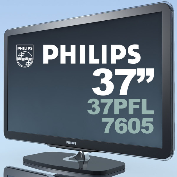 tv philips 37pfl7605 mf 3d c4d - TV PHILIPS 37PFL7605 MF... by 3DLocker