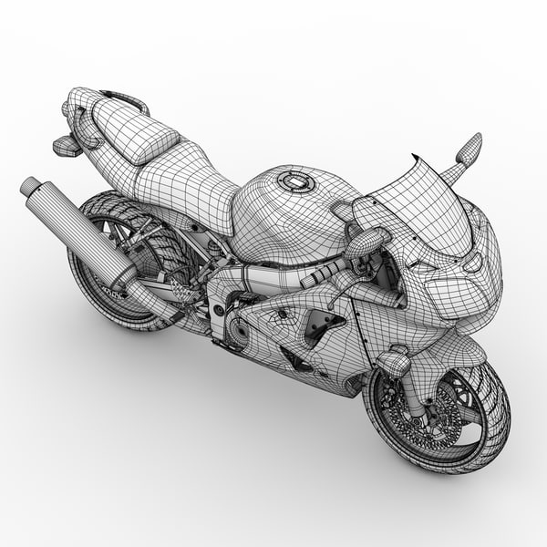 kawasaki super sport motorcycle 3d model - ZX-6R Kawasaki Ninja Sport Bike - 2000... by Jamie Hamel Smith