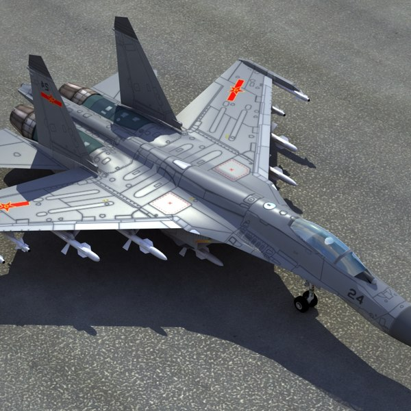 3d plaaf flanker fighter model