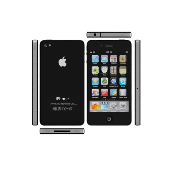 new iphone 4 4s 3d model - iPhone 4 and iPhone 4S - black and white collection cell p... by Leeift