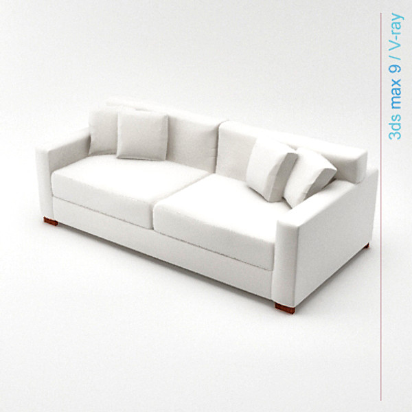 3d model modern architectural - sofa 01... by Lajhar