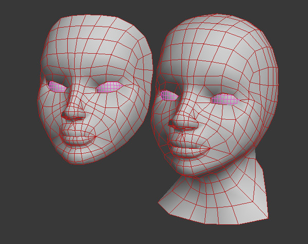 mask doll 3d model - A head and a mask... by 3D HANNIBAL
