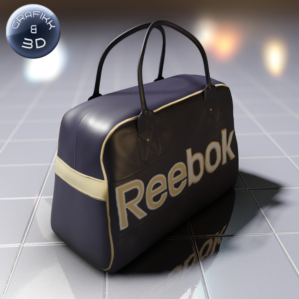 reebok logo sport bag 3d model - Reebok Logo Sport Bag... by PolyTron