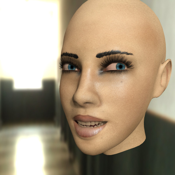 3d skin - - Amber - rigged female (3ds max)... by Damian2k