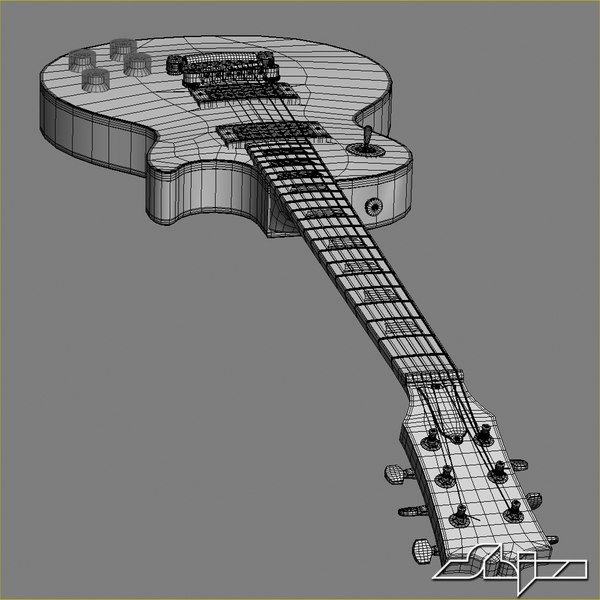 3d model of guitar gibson les paul - Guitar Gibson Les Paul... by shiva3d