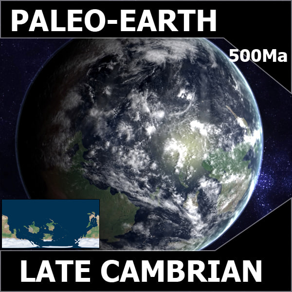 maya cambrian earth late - Late Cambrian Earth... by MichaelTaylor3D