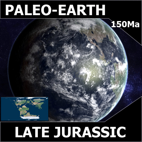 3d model jurassic earth late