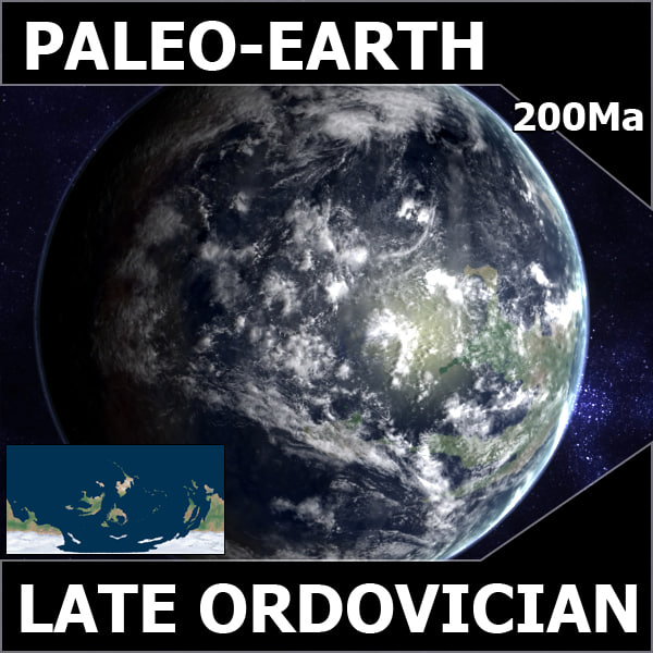 ordovician earth 3d model - Late Ordovician Earth... by MichaelTaylor3D
