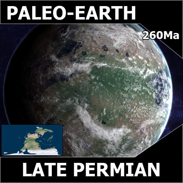 permian earth late 3d model