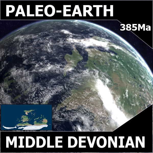 devonian earth middle 3d model - Middle Devonian Earth... by MichaelTaylor3D