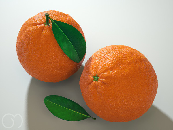 3d orange fruit - Orange... by goodmesh