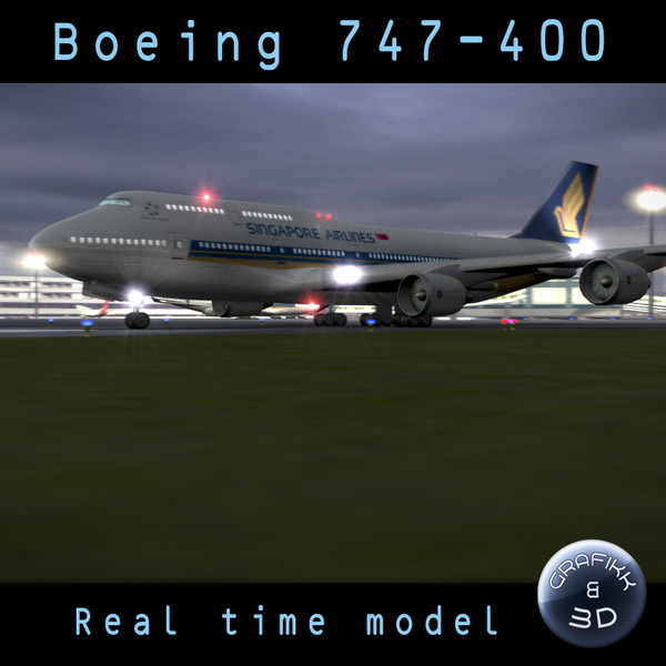 Boeing 747-400 - Real time model