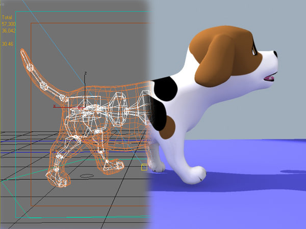 3d cartoon doggy - Rigged Cartoon Doggy 01... by Denys Almaral