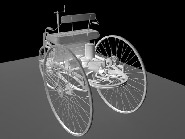 auto mercedes benz 3d model - mercedes benz 1888(2)... by zulkammhar
